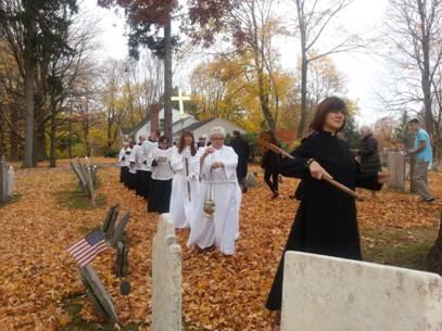 graveyard procession